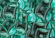 100 долларовые банкноты & x28; банкноты & x29; , U S валюта-- в предохранении от ультрафиолетового света Стоковые Изображения