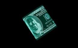 100 долларовые банкноты & x28; банкноты & x29; , U S валюта-- в предохранении от ультрафиолетового света Стоковое фото RF