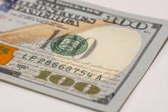100 долларовых банкнот, фотография макроса Стоковое фото RF