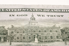 100 долларовых банкнот, фотография макроса Стоковое Фото