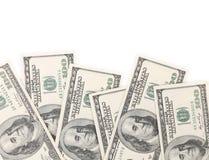 100 долларовых банкнот для предпосылки. Стоковое фото RF