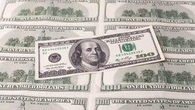 100 долларовых банкнот для предпосылки Стоковые Фото