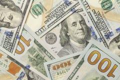 100 долларовых банкнот Стоковое Изображение RF