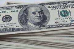 100 долларовых банкнот Стоковые Фото