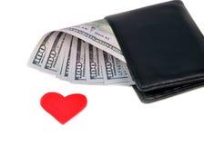 100 долларовых банкнот u S На белой предпосылке Стоковые Изображения