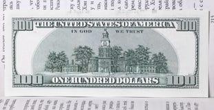 100 долларов банкноты Стоковые Изображения