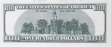 100 долларов банкноты Стоковое Изображение