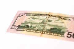 50 долларов банкноты Стоковые Фото
