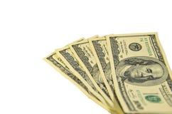 100 долларов банкнот изолированных на белизне Стоковое фото RF