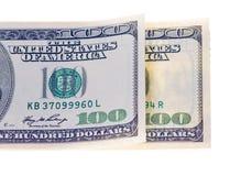 200 долларов банкнот изолированных на белой предпосылке Стоковые Фото