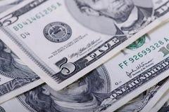 5 долларов банкнот Стоковое Изображение RF