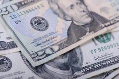 20 долларов банкнот Стоковые Изображения RF