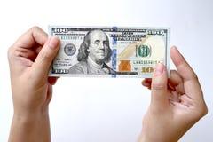 100 долларов в наличии Стоковое Изображение
