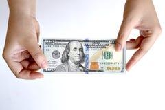 100 долларов в наличии Стоковые Изображения RF