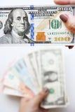 100 долларов в наличии Стоковая Фотография RF