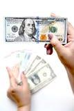 100 долларов в наличии Стоковые Фотографии RF