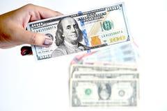 100 долларов в наличии Стоковые Фото