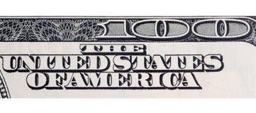 100 долларов в Соединенных Штатах Америки как backg Стоковое фото RF
