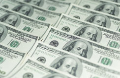 100 долларов денег Стоковое Фото