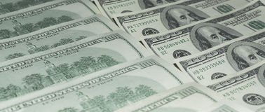 100 долларов денег Стоковые Изображения