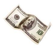 100 долларов закрывают вверх Стоковые Изображения RF