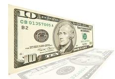 10 долларов Стоковая Фотография