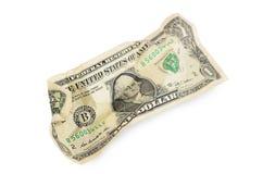 100 долларов изолированных на белой предпосылке Стоковое фото RF