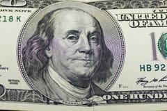 100 долларов конца-вверх Стоковые Фото
