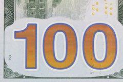 100 долларов крупного плана Стоковые Изображения