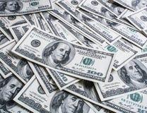 100 долларов кучи Стоковое фото RF