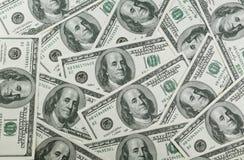 100 долларов кучи Стоковая Фотография