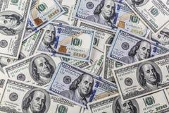 100 долларов кучи Стоковая Фотография RF