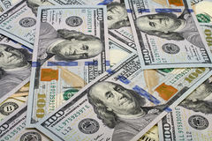 100 долларов кучи Стоковые Фото