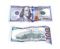 100 долларов на обеих сторонах Стоковое Изображение RF