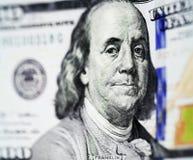 100 долларов нового выпуска счета Стоковое фото RF