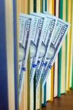 100 долларов лож между страницами Стоковые Фотографии RF