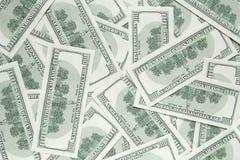 100 долларов предпосылки. задняя сторона банкнот Стоковое Изображение RF
