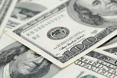 100 долларов предпосылки примечаний Стоковая Фотография RF