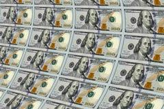 100 долларов примечаний напечатанных на листе Стоковая Фотография RF