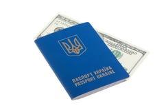 100 долларов проинвестированных в пасспорте Стоковые Изображения RF