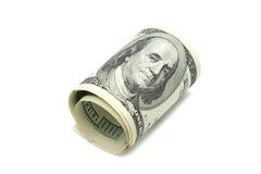 100 долларов свернутых вверх Стоковое Изображение RF