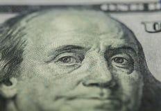 100 долларов счета - Бенджамина Франклина Стоковое Фото