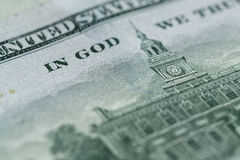 100 долларов счета в конце валюты США вверх Стоковые Фото
