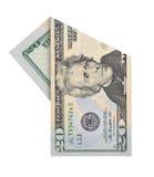 20 долларов счета Стоковое Фото