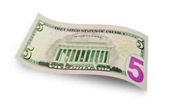 5 долларов счета Стоковое Изображение RF