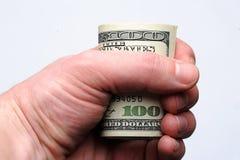 100 долларов счета Стоковое Изображение