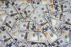100 долларов счетов Стоковое Изображение