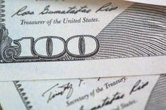 100 долларов США банкнот Стоковые Изображения