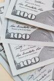 100 долларов США банкнот Стоковые Фото
