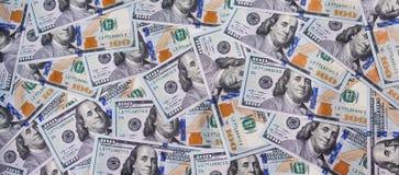 100 долларов США как предпосылка Стоковое Фото